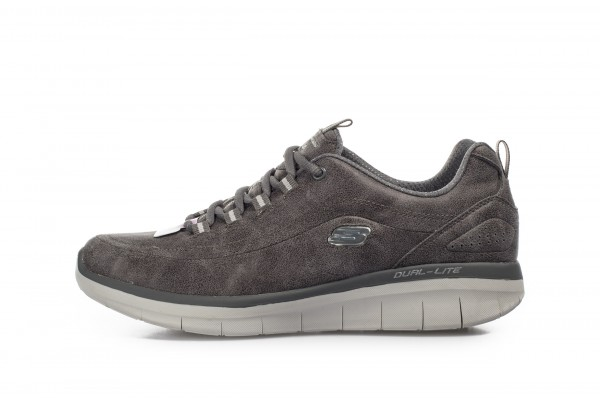 SKECHERS CLASSIC MICROLEATHER LACE-UP 12934-CHAR Grey