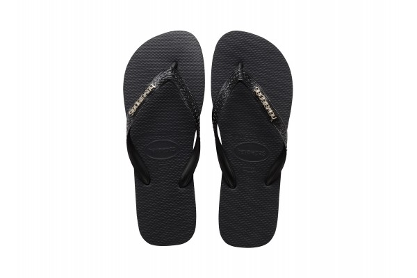 HAVAIANAS TOP LOGO METALLIC 4127244-1069 Black