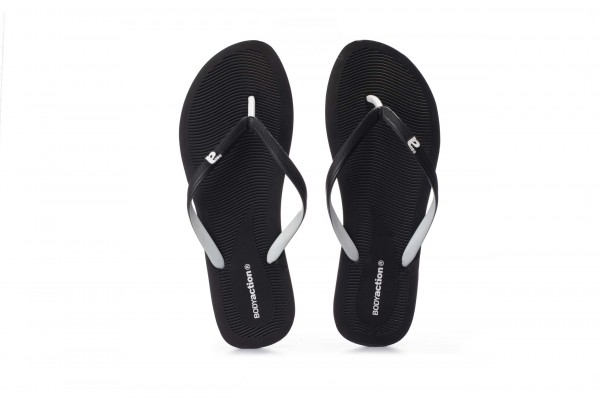 BODY ACTION WOMEN'S SUMMER BEACH FLIP FLOPS 091003-01-01 Black