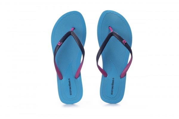 BODY ACTION WOMEN'S SUMMER BEACH FLIP FLOPS 091003-01-04J Blue