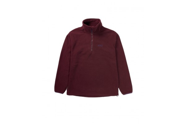 EMERSON HALF-ZIP POLAR FLEECE PULLOVER SWEATER 192.EM28.108A-WINE Μπορντό