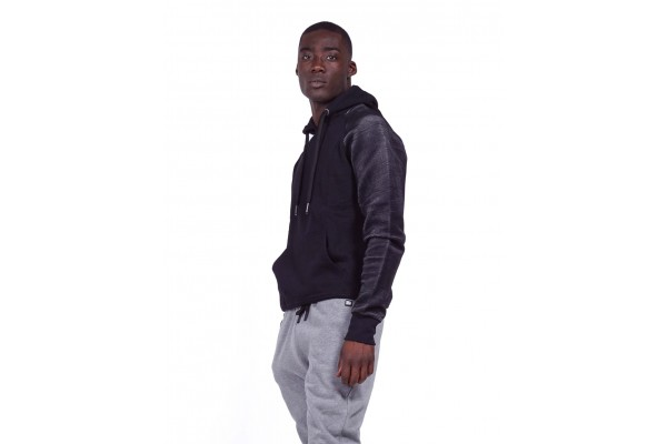 BODY ACTION GYM HOODIE 063922-01-01 Black