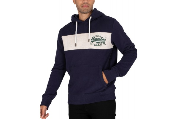 SUPERDRY VL PANEL HOOD M2010637A-GKV Μπλε