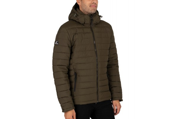 SUPERDRY HOODED FUJI JACKET M5010201A-ZC3 Χακί
