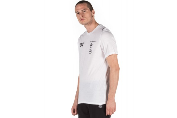 BODY ACTION MEN'S SPORTS ACTIVE T-SHIRT 053004-01-02 White