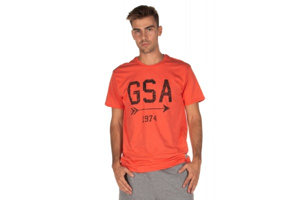 GSA T-SHIRT MEN GRAPHIC TEE 37-19001-CORAL Coral