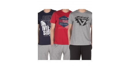 VENIMO MEN'S 3-PACK T-SHIRTS 120MSS-765 Blue