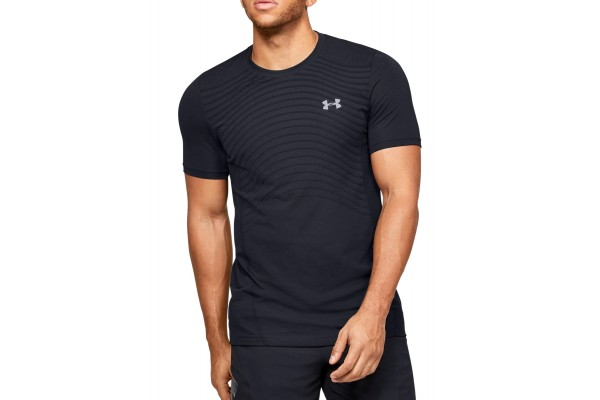 UNDER ARMOUR SEAMLESS WAVE SS 1351450-001 Μαύρο