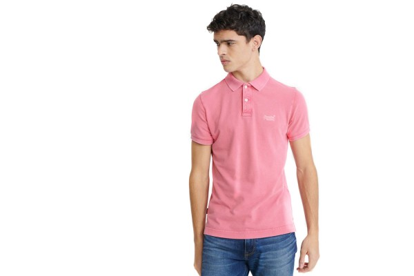 SUPERDRY VINTAGE DESTROYED S/S PIQUE POLO M1110014A-9SU Pink
