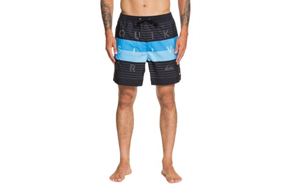 QUIKSILVER WORD BLOCK VOLLEY 17 EQYJV03550-KVJ6 Black