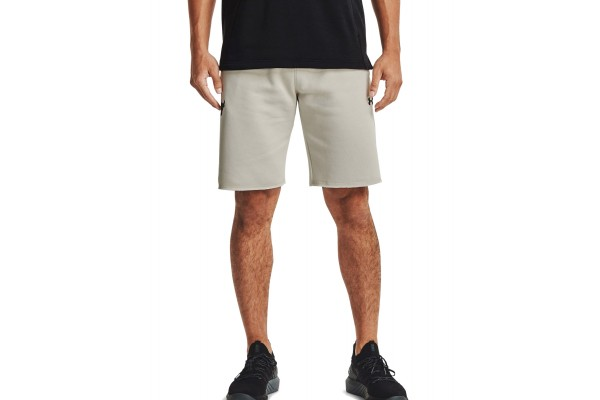 UNDER ARMOUR PJT ROCK CC FLEECE SHORT 1357200-110 Εκρού