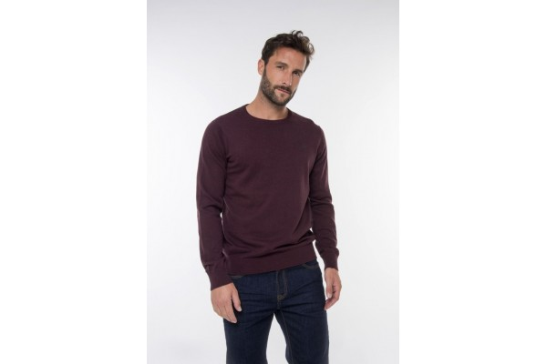 FUNKY BUDDHA MEN'S KNITTED SWEATER FBM001-09219-BURGUNDY Βordeaux