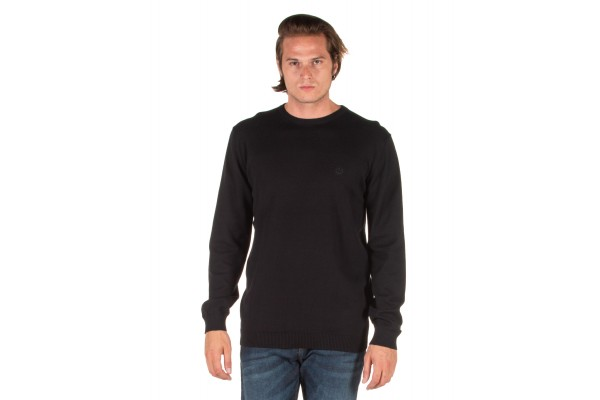 EMERSON COTTON KNITTED SWEATER 192.EM70.90-BLACK Black