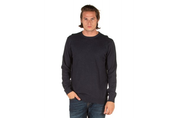 EMERSON COTTON KNITTED SWEATER 192.EM70.90-NAVY ML Blue