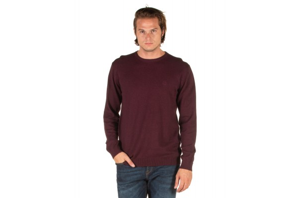 EMERSON COTTON KNITTED SWEATER 192.EM70.90-WINE ML Βordeaux