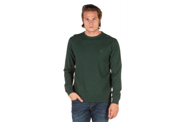 EMERSON COTTON KNITTED SWEATER 192.EM70.90-GREEN ML Green
