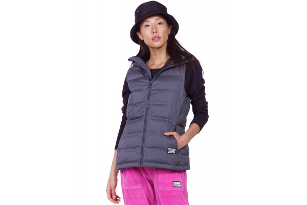 BODY ACTION WINTER VEST WITH HOOD 071931-01-01 Black