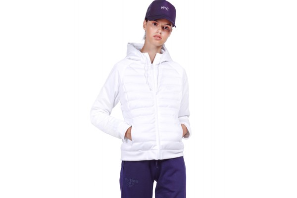 BODY ACTION PADDED SLIM JACKET WITH HOOD 071930-01-02 White