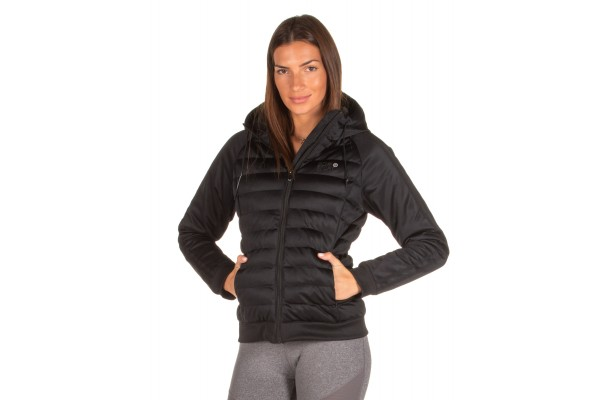 BODY ACTION PADDED SLIM JACKET WITH HOOD 071930-01-01 Black