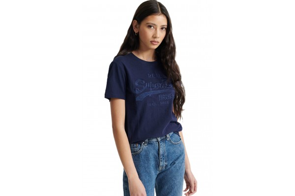 SUPERDRY VL TONAL EMBROIDERY ENTRY W1010028A-GKV Blue