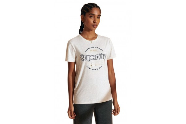 SUPERDRY ESTABLISHED TEE W1010236A-10C Εκρού