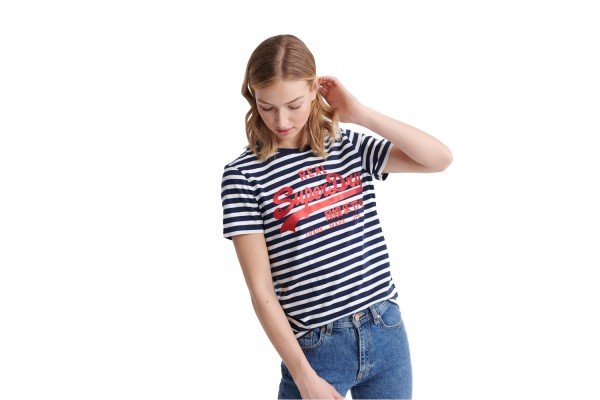 SUPERDRY VL SATIN STRIPE ENTRY W1010037B-JKC Μπλε