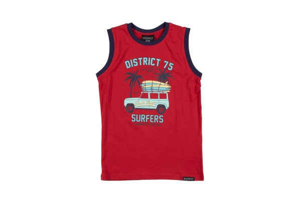 DISTRICT75 GIRLS' TANK TOP 120KBST-735 Red