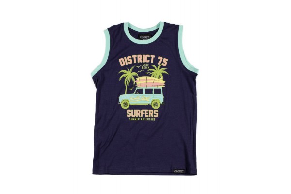 DISTRICT75 GIRLS' TANK TOP 120KBST-735 Blue