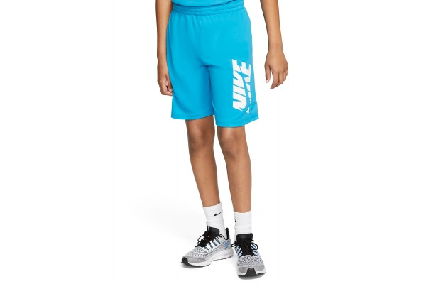 NIKE OLDER KIDS' (BOYS') TRAINING SHORTS CJ7744-446 Σιελ