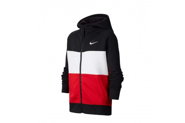 NIKE AIR BIG KIDS' (BOYS') FULL-ZIP HOODIE CJ7855-011 Colorful