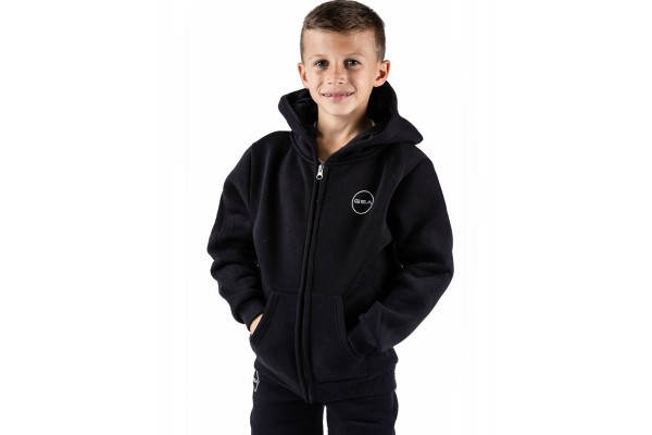 GSA SUPERCOTTON ZIPPER HOODIE 17-38003-01 JET BLACK Black