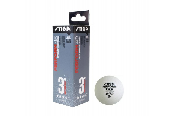 STIGA PERFORM 3-STAR ABS 3-PACK 1113-2110-03 White