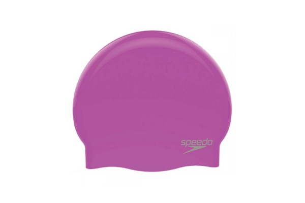 SPEEDO PLAIN MOULDED SILICONE CAP 8-70984D436 Purple