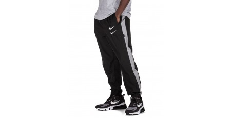 NIKE SPORTSWEAR SWOOSH WOVEN TROUSERS CJ4877-010 Black