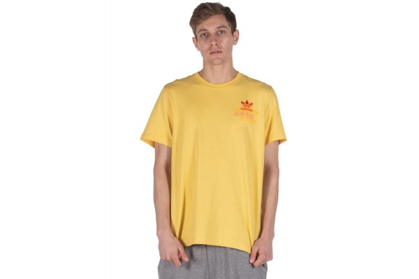 adidas Originals SHATTERED EMBROIDERED TEE FM3340 Yellow